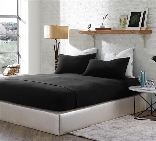 Romeo Sheet Set Size: California King, Color: Black