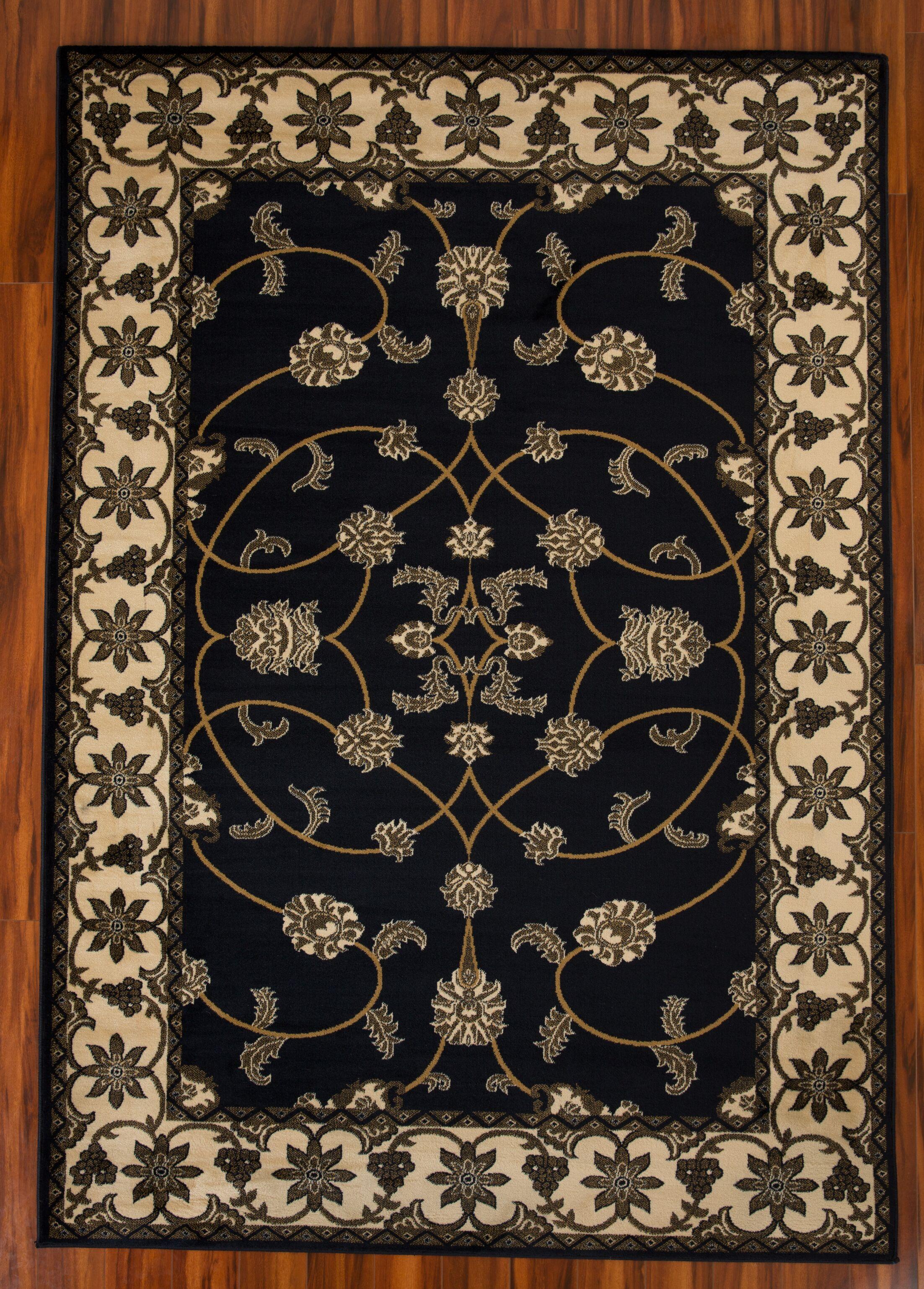 Drysdale Black Area Rug Rug Size: Rectangle 8' x 11'