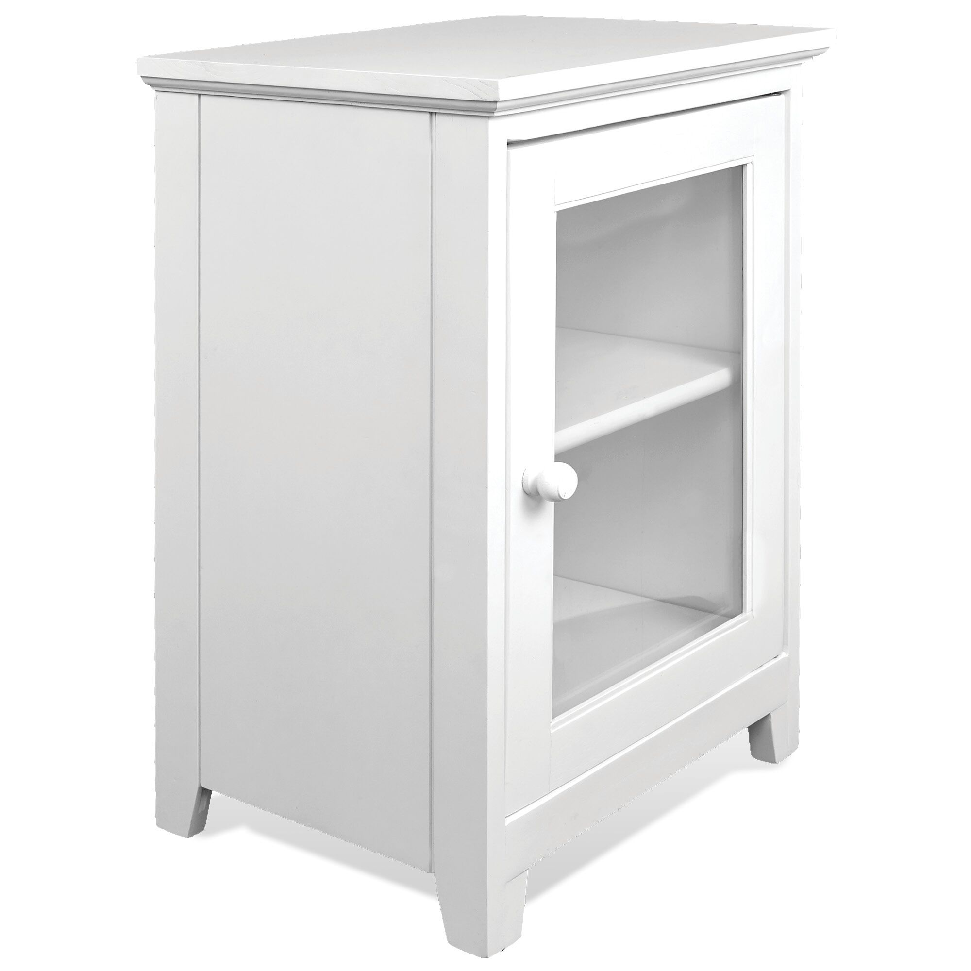 Yusuf 1 Drawer Nightstand Color: White