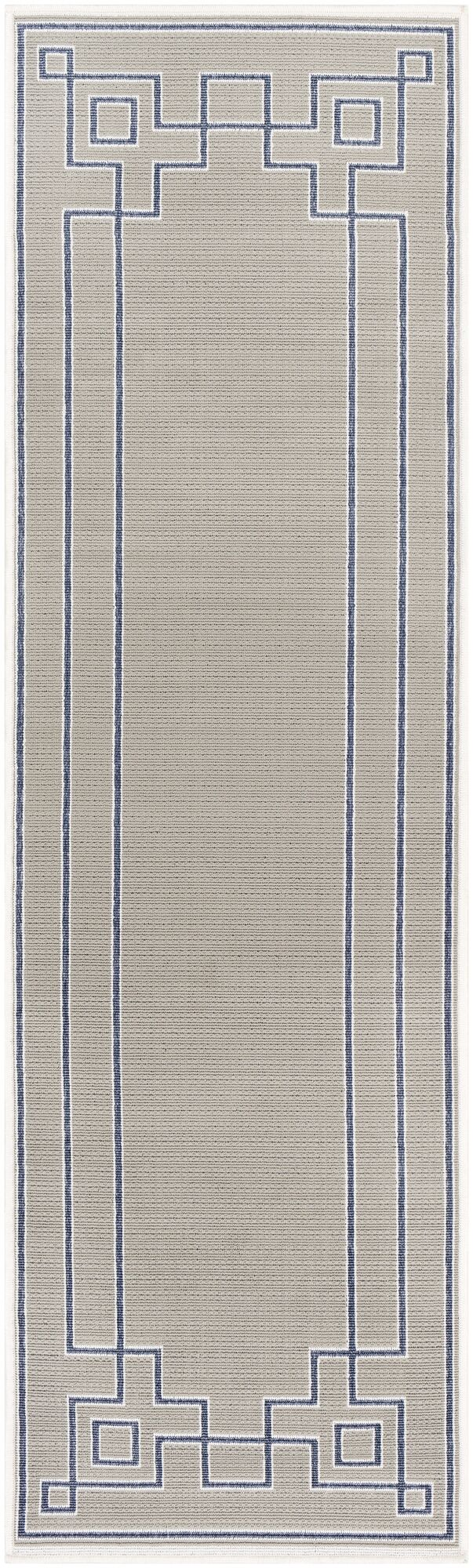 Pearce Taupe/Charcoal Indoor/Outdoor Area Rug Rug Size: Runner 2'3