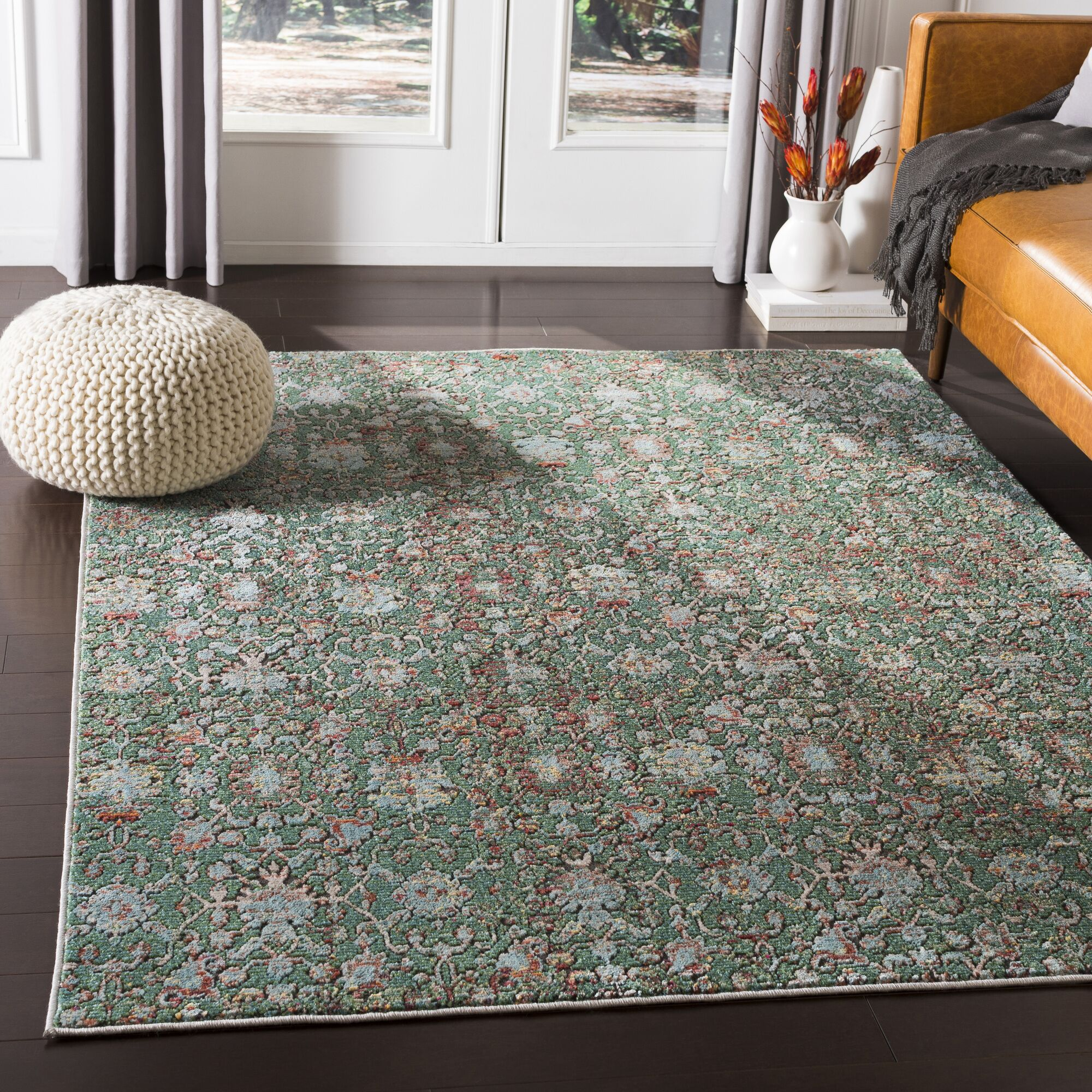 Kaiden Distressed Sage Area Rug Rug Size: Rectangle 7'10