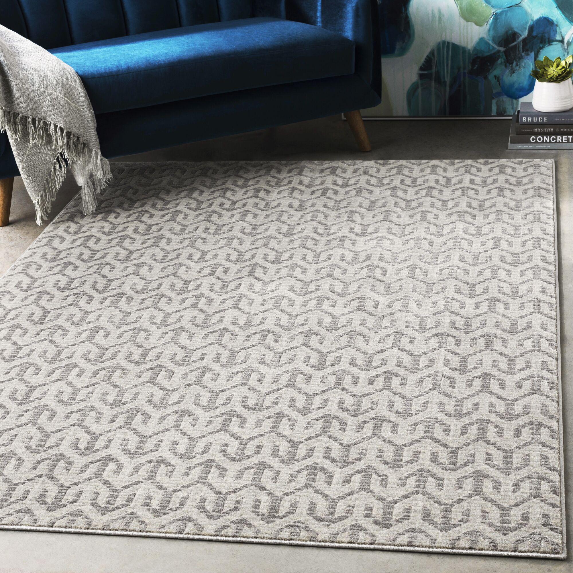 Hyacinth Modern Geometric Charcoal/Gray Area Rug Rug Size: Rectangle 7'10