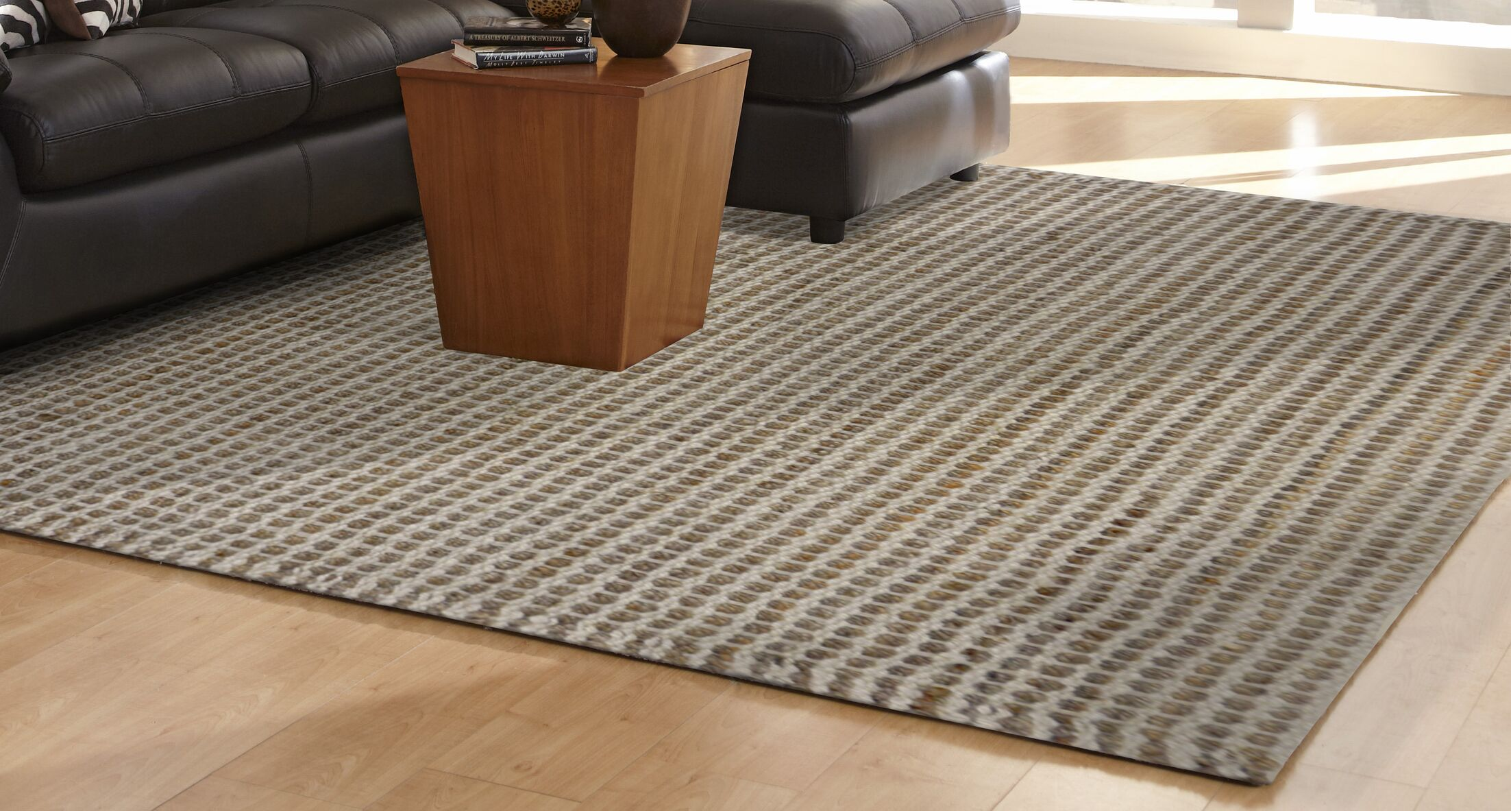 Allyssa Hand-Woven Natural Area Rug Rug Size: Rectangle 7'6