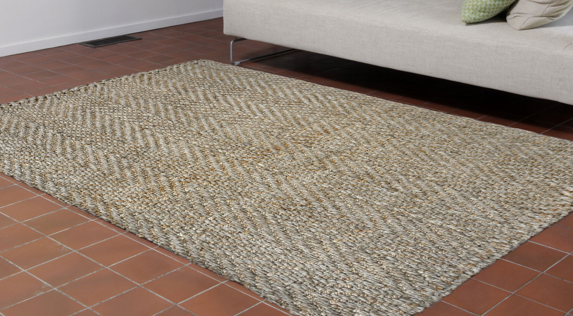 Allyssa Hand-Woven Natural Area Rug Rug Size: Rectangle 8'3