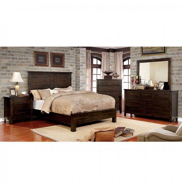 Reynolds Panel Bed Color: Dark Walnut, Size: Queen