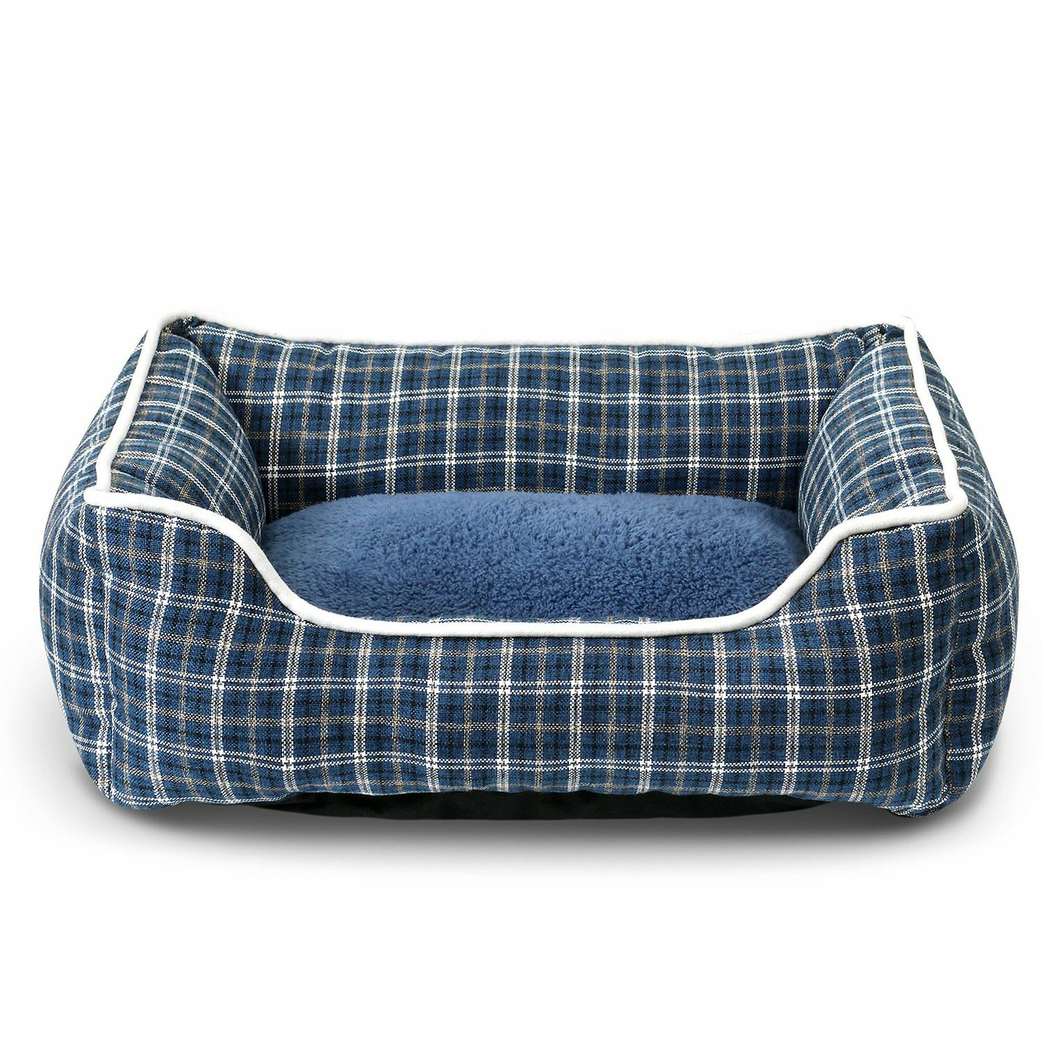 Dublin Pet Bed Bolster with Inner Cushion Color: Blue
