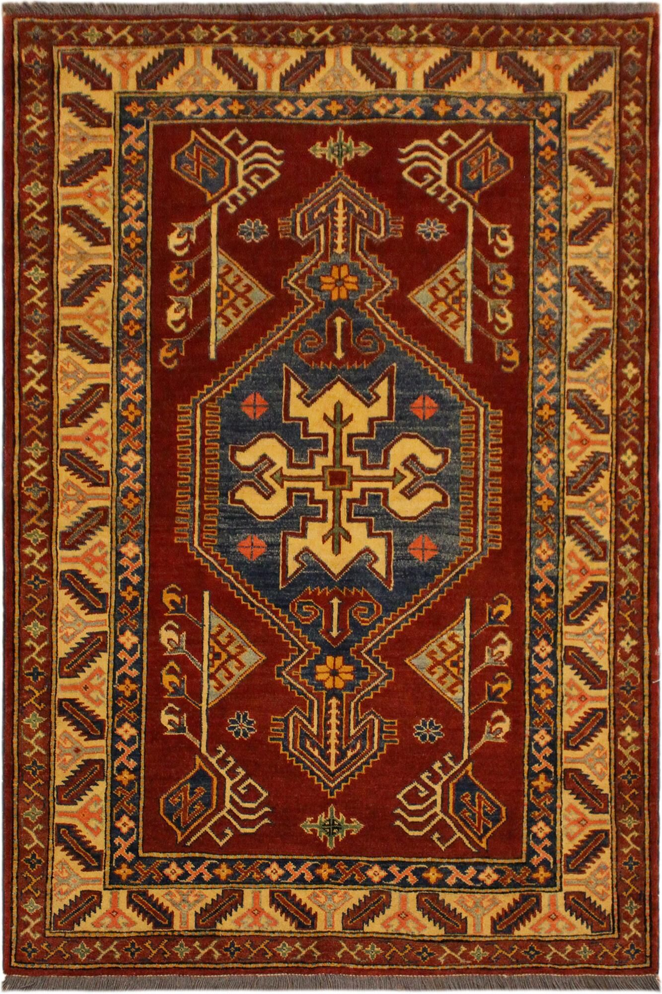 One-of-a-Kind Ann Super Kazak Hand-Knotted Wool Rust/Tan Area Rug