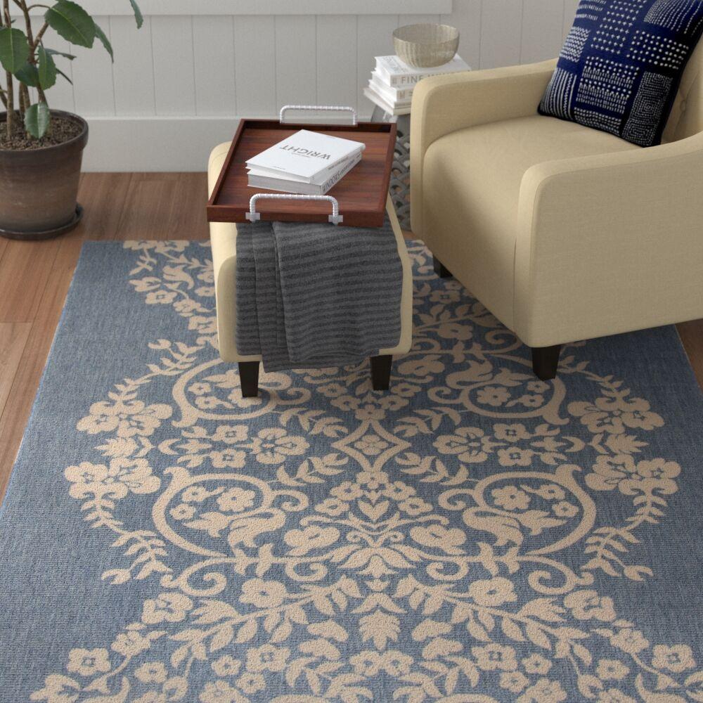 Joliet Tapestry Azurite Area Rug Rug Size: Rectangle 6'7