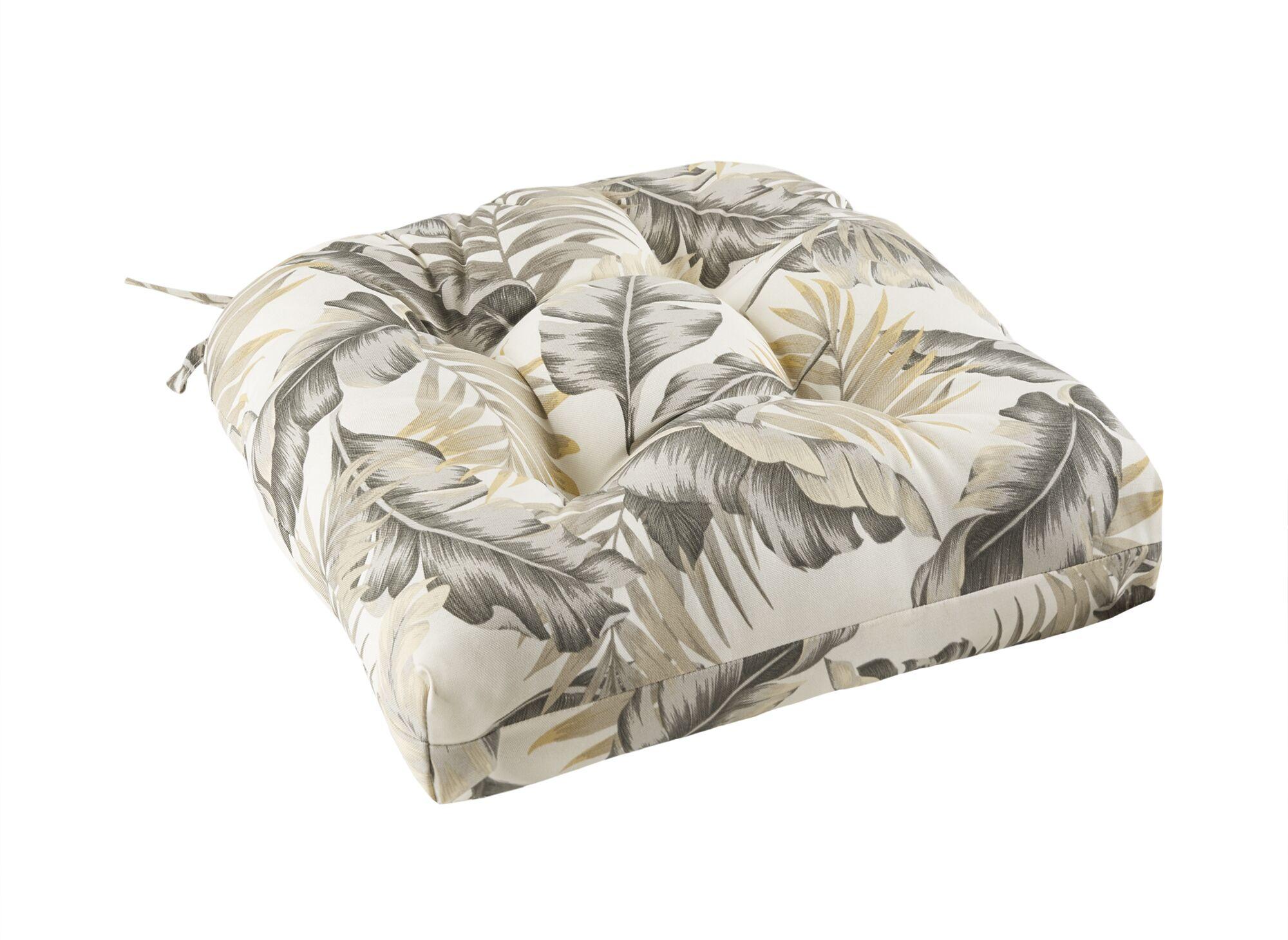 Swiger Leaf 3M Scotchgard Outdoor Dining Chair Cushion Fabric: Neutral