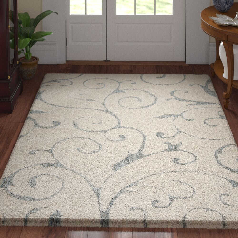 Remick Power Loom Gray/Light Blue Indoor Area Rug Rug Size: Rectangle 3' 3