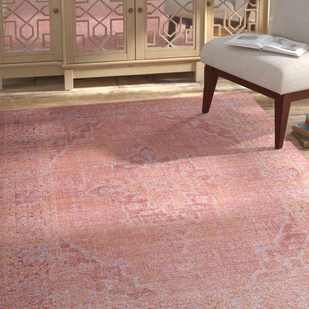 Chauncey Pink Area Rug Rug Size: Rectangle 3' x 12'
