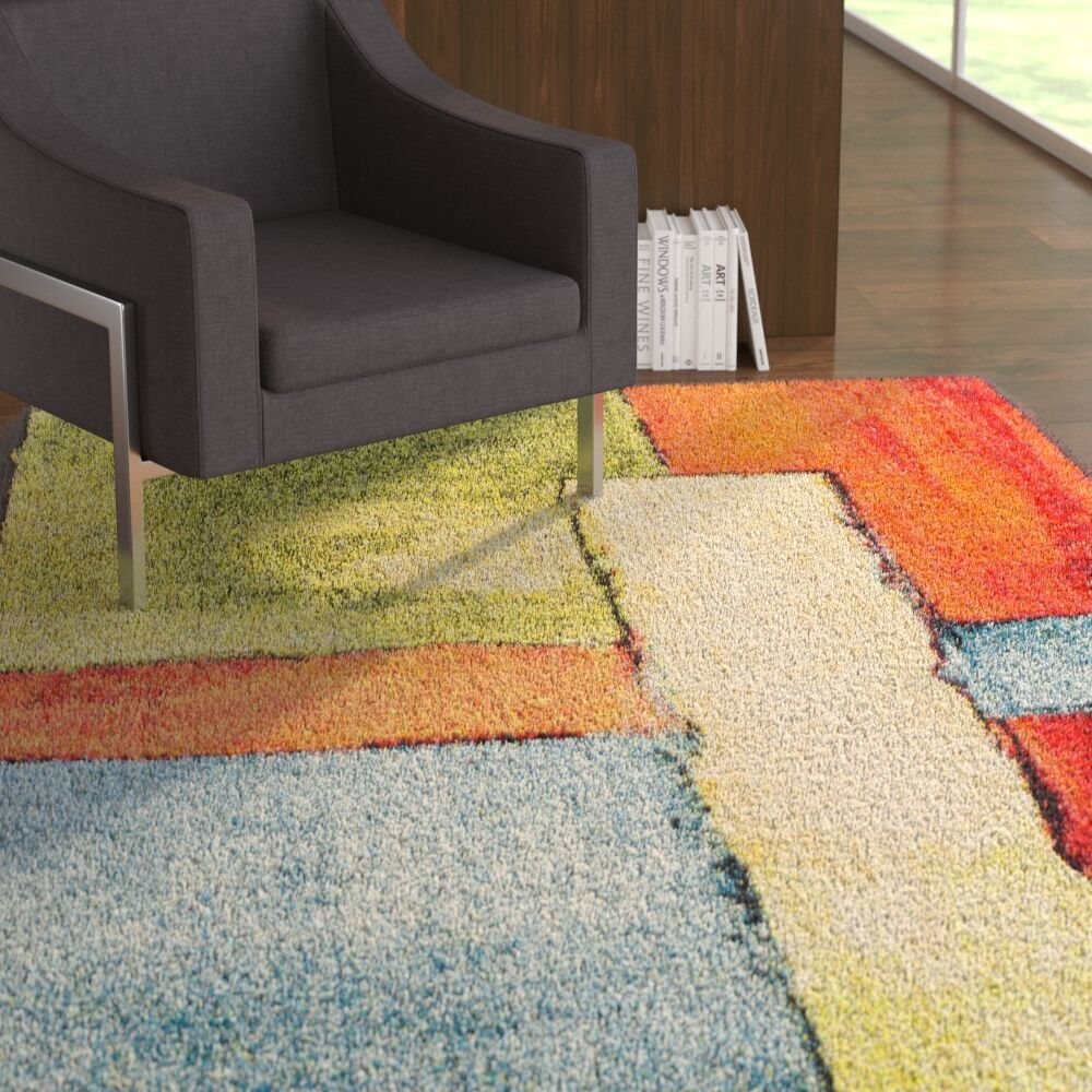 Wagner Soft Yellow/Orange Area Rug Rug Size: 8' x 10'