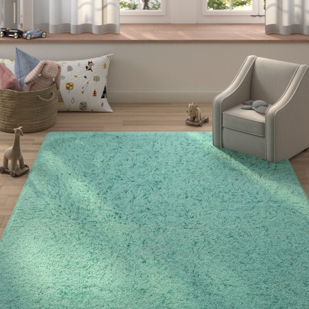 Ducharme Wool Mint Area Rug Rug Size: Rectangle 8' x 10'