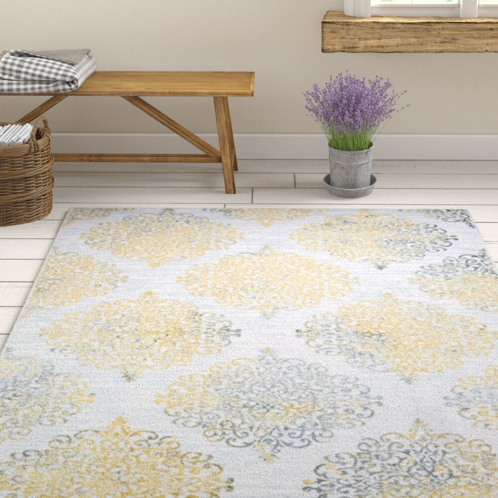 Jakes Gold/Silver Area Rug Rug Size: Runner 2'3