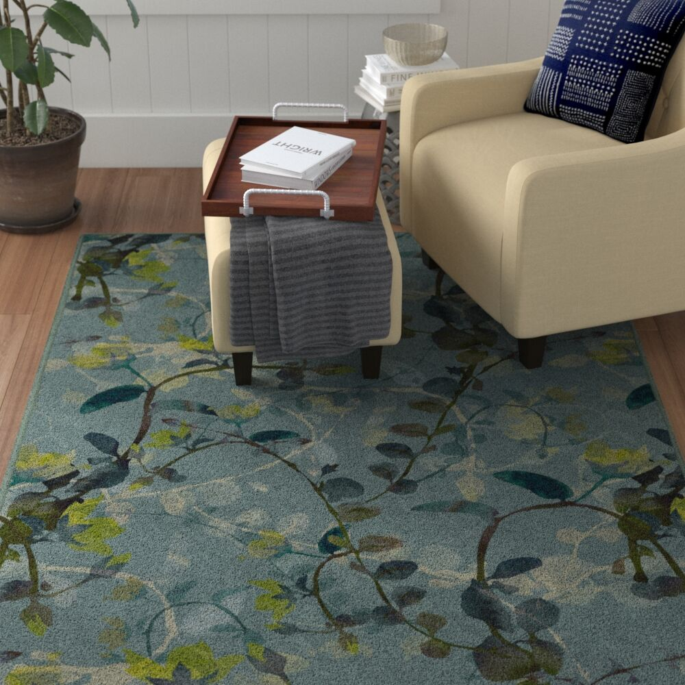 Tevis Blue Area Rug Rug Size: Rectangle 5'x8'