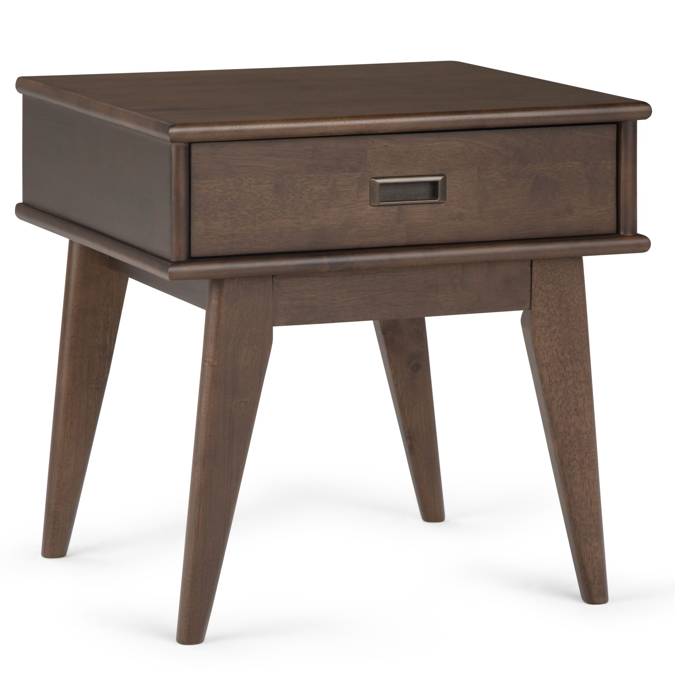 Draper End Table with Storage Color: Walnut Brown