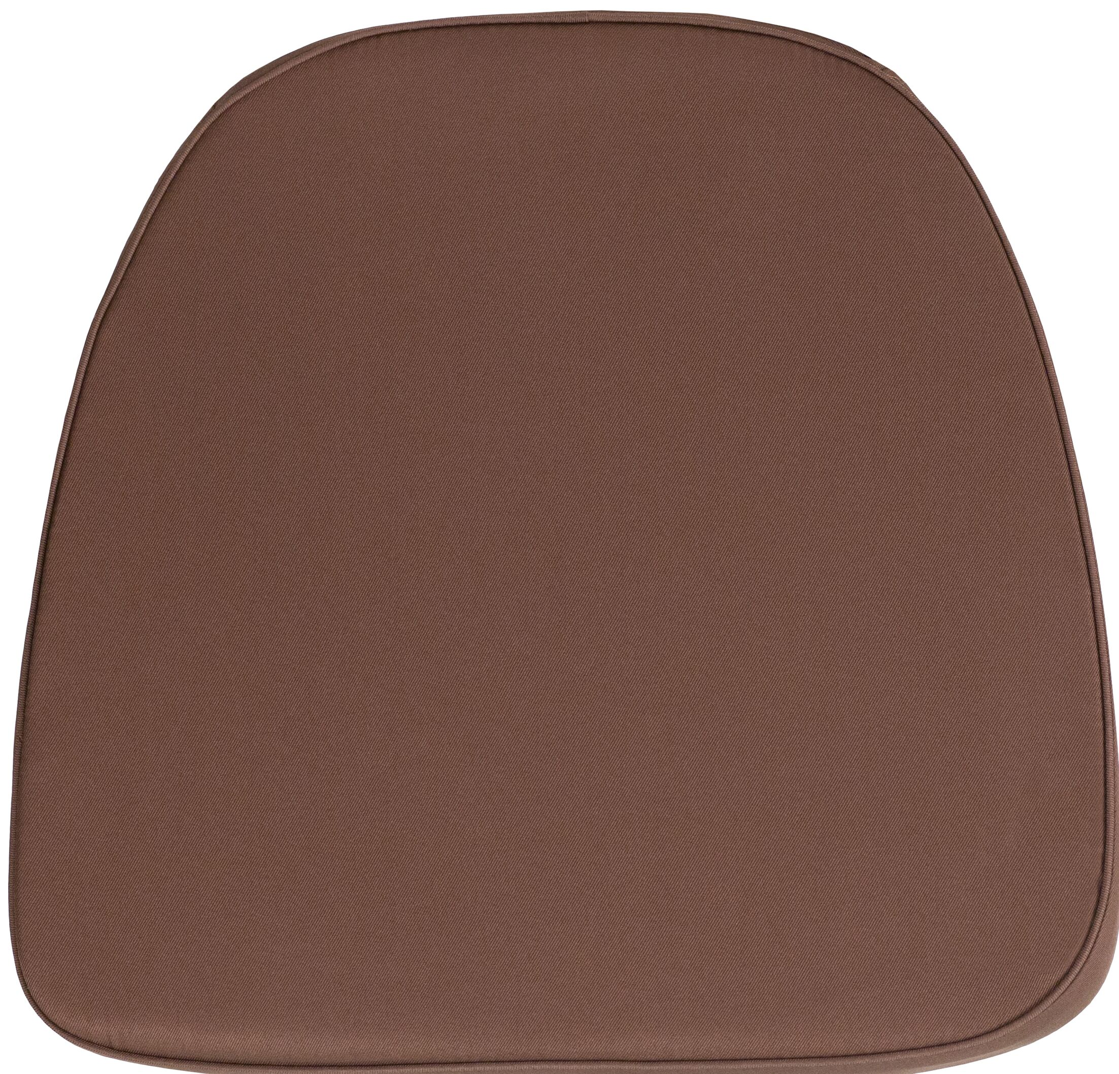 Indoor Dining Chair Cushion Fabric: Brown