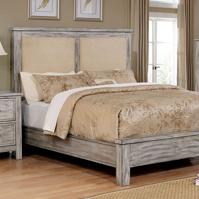 Reynolds Upholstered Panel Bed Size: Queen, Color: Antique Gray