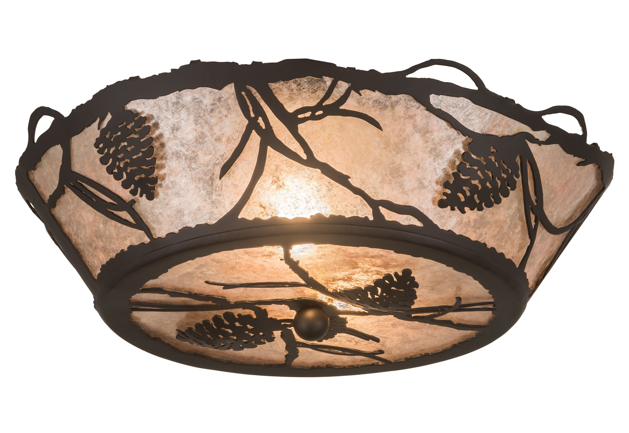 This original is a unique handcrafted work of art. Natural variations in the wide array of materials that they use to create this masterpiece. Features: -Handcrafted.-Luxurious.-Glasswork.-Product Type: Semi flush mount.-Number of Lights: 2.-Finish: ....