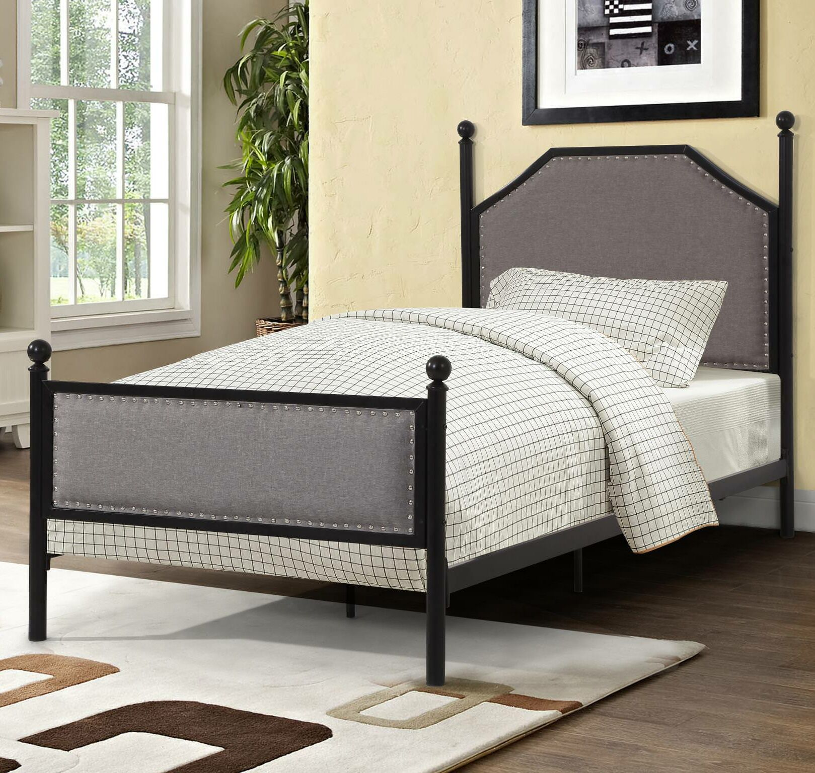Icarus Upholstered Panel Bed Size: Twin