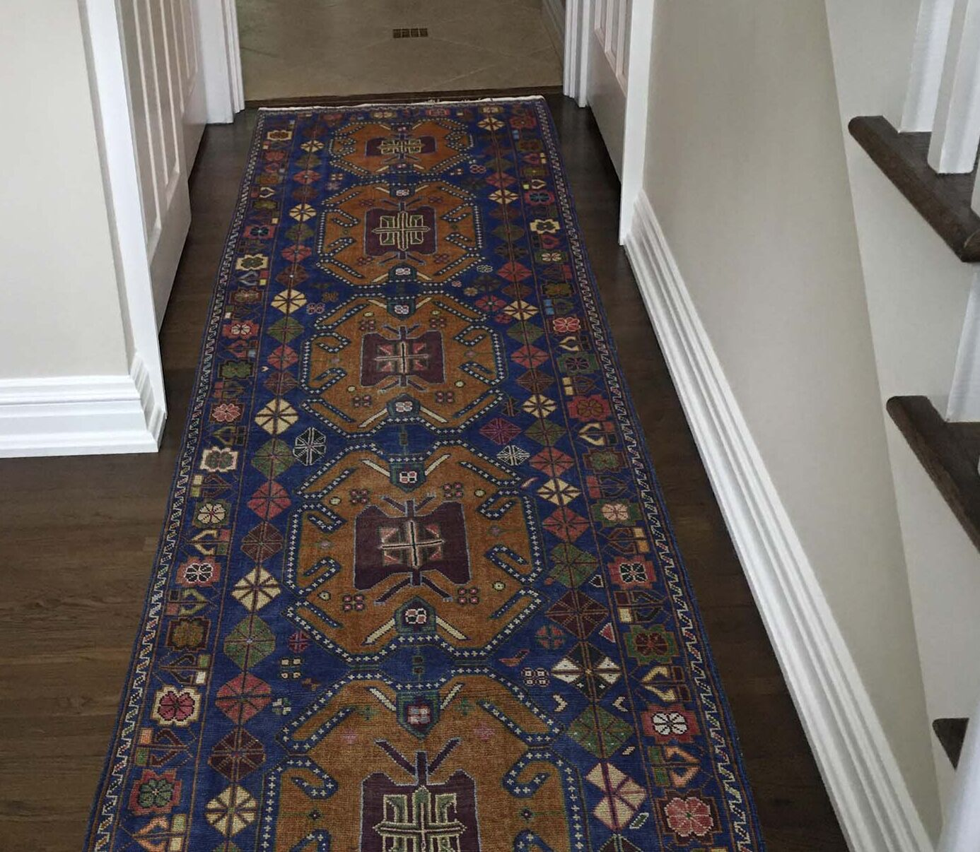 One-of-a-Kind Eggers Afghan Baluch Tribal and Geometric Oriental Hand-Knotted Brown Area Rug