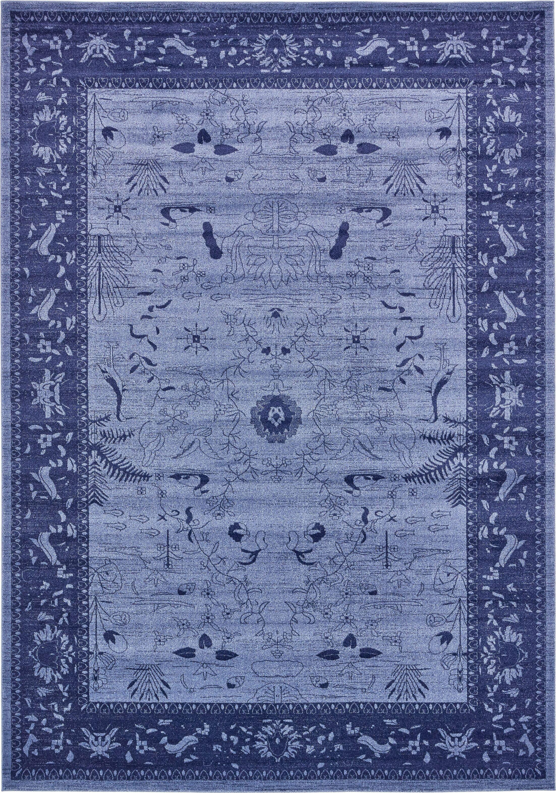Shailene Blue Area Rug Rug Size: Rectangle 10' x 14'
