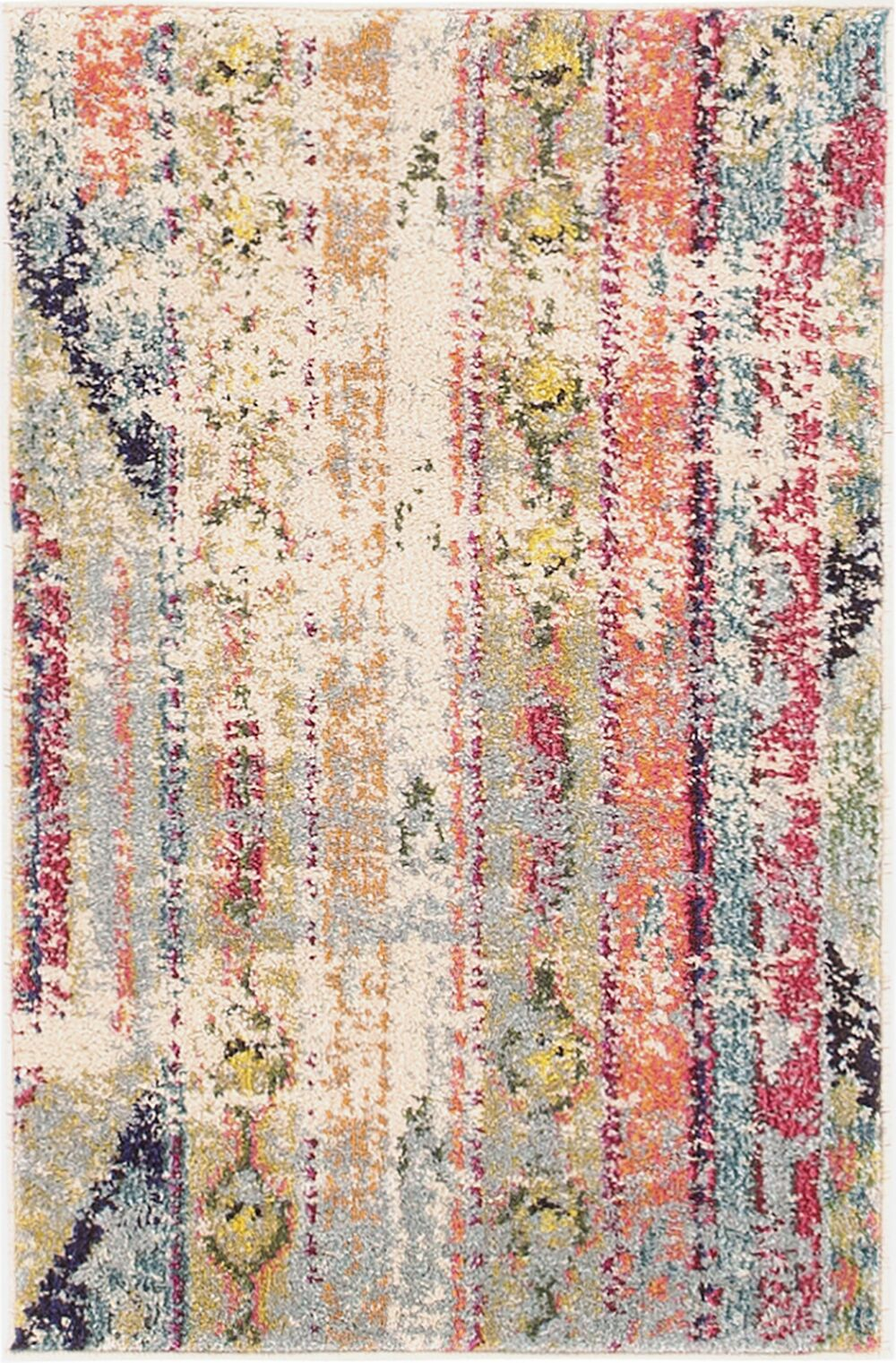 Newburyport Beige/Orange Area Rug Rug Size: Rectangle 8' x 10'