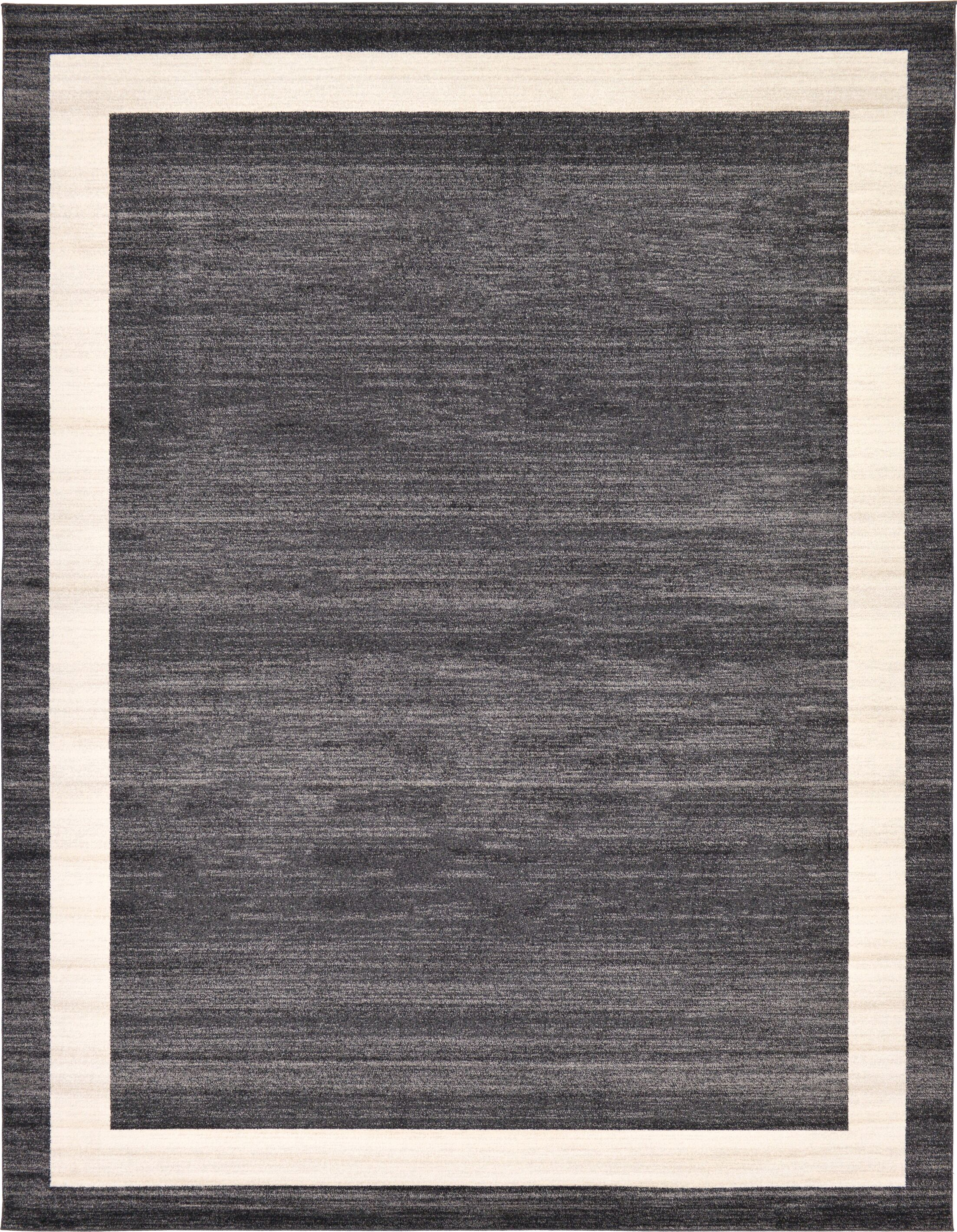 Cregan Black/Cream Area Rug Rug Size: Rectangle 10' x 13'