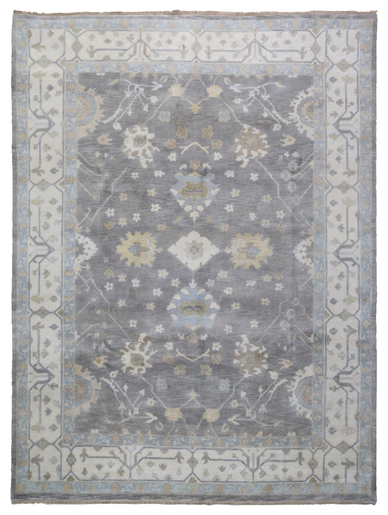 One-of-a-Kind Mitchel Oriental Hand-Knotted Wool Brown Area Rug