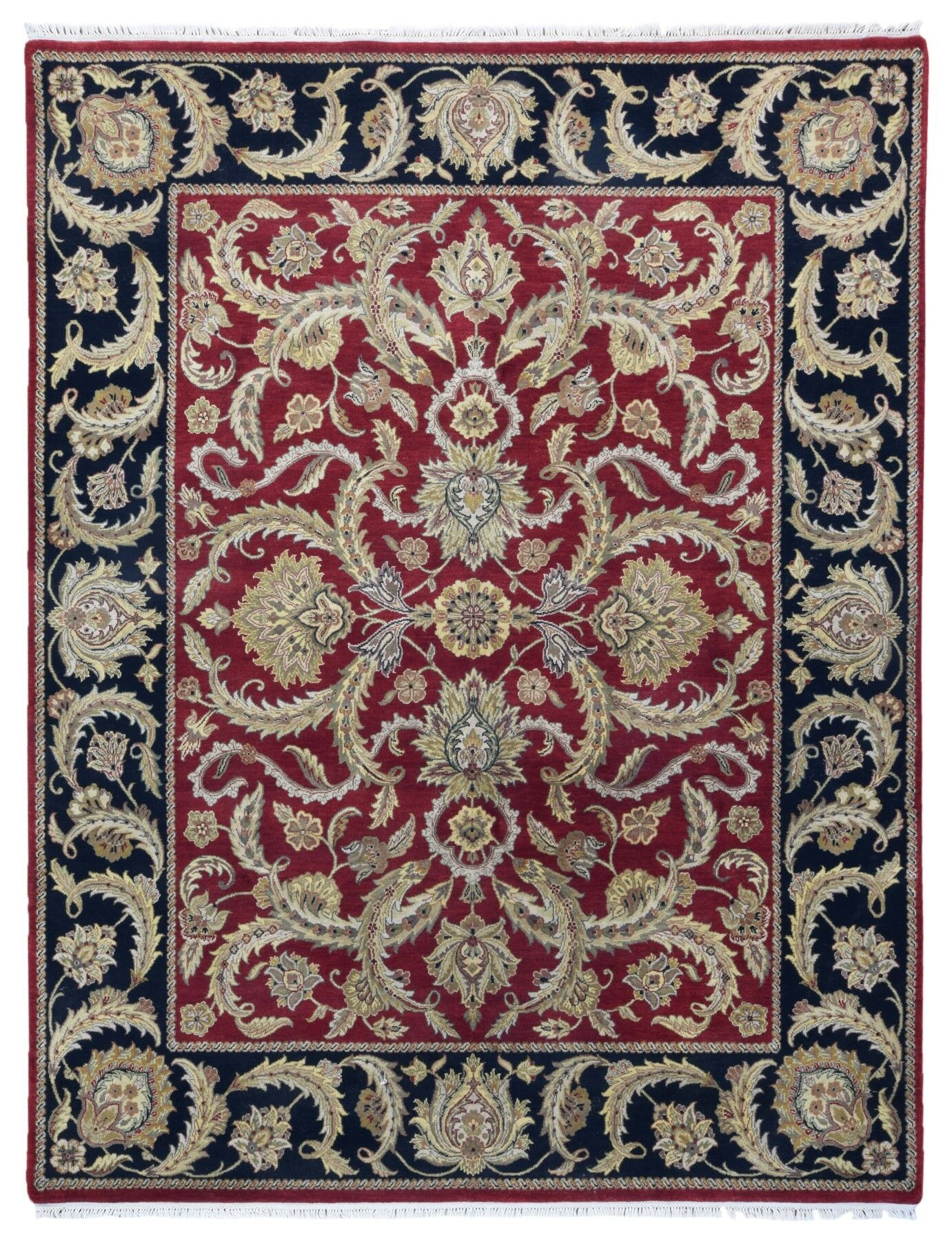 One-of-a-KindBalic Oriental Hand-Knotted Wool Red/Beige Area Rug