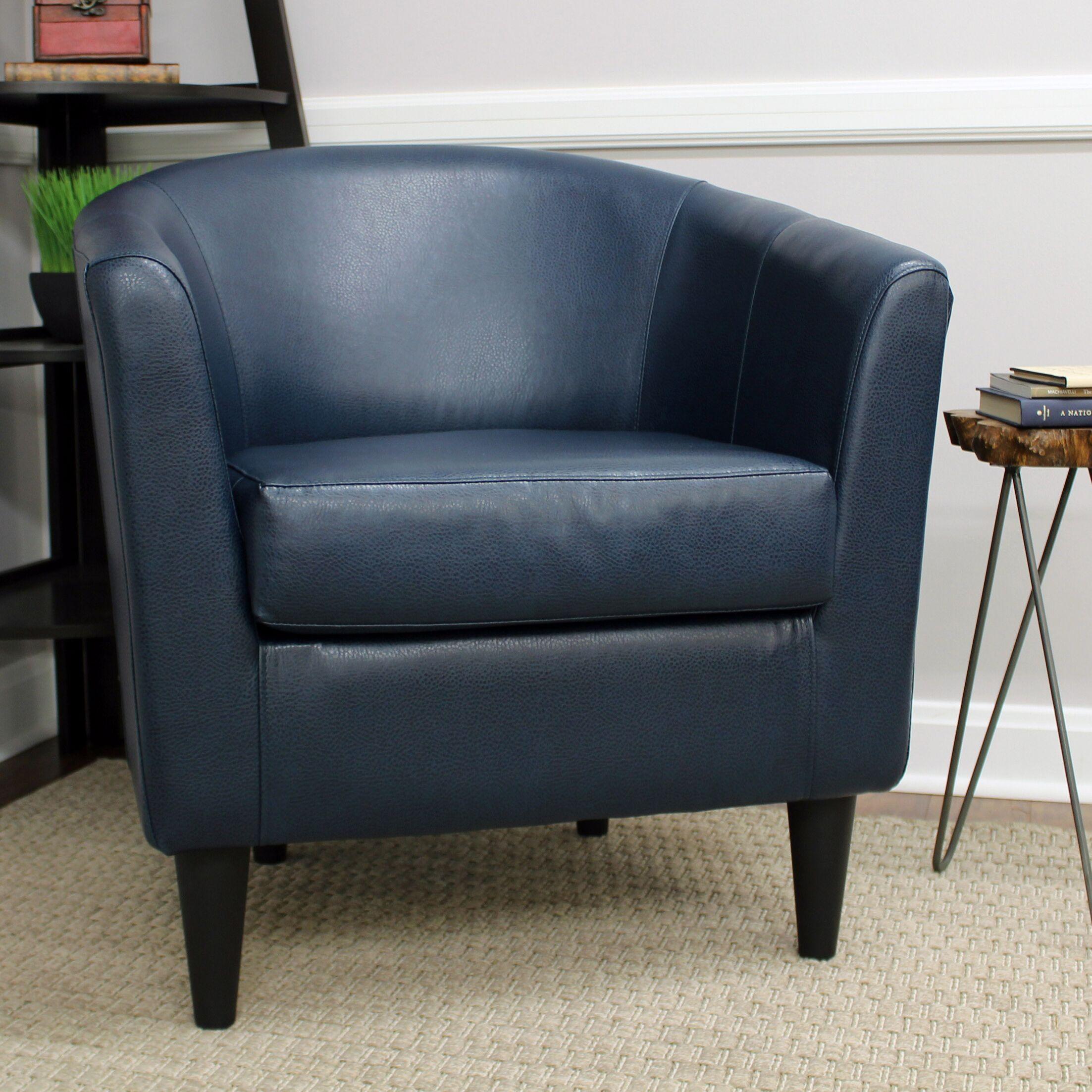 Czerwinski Club Chair Upholstery: Peacock Blue