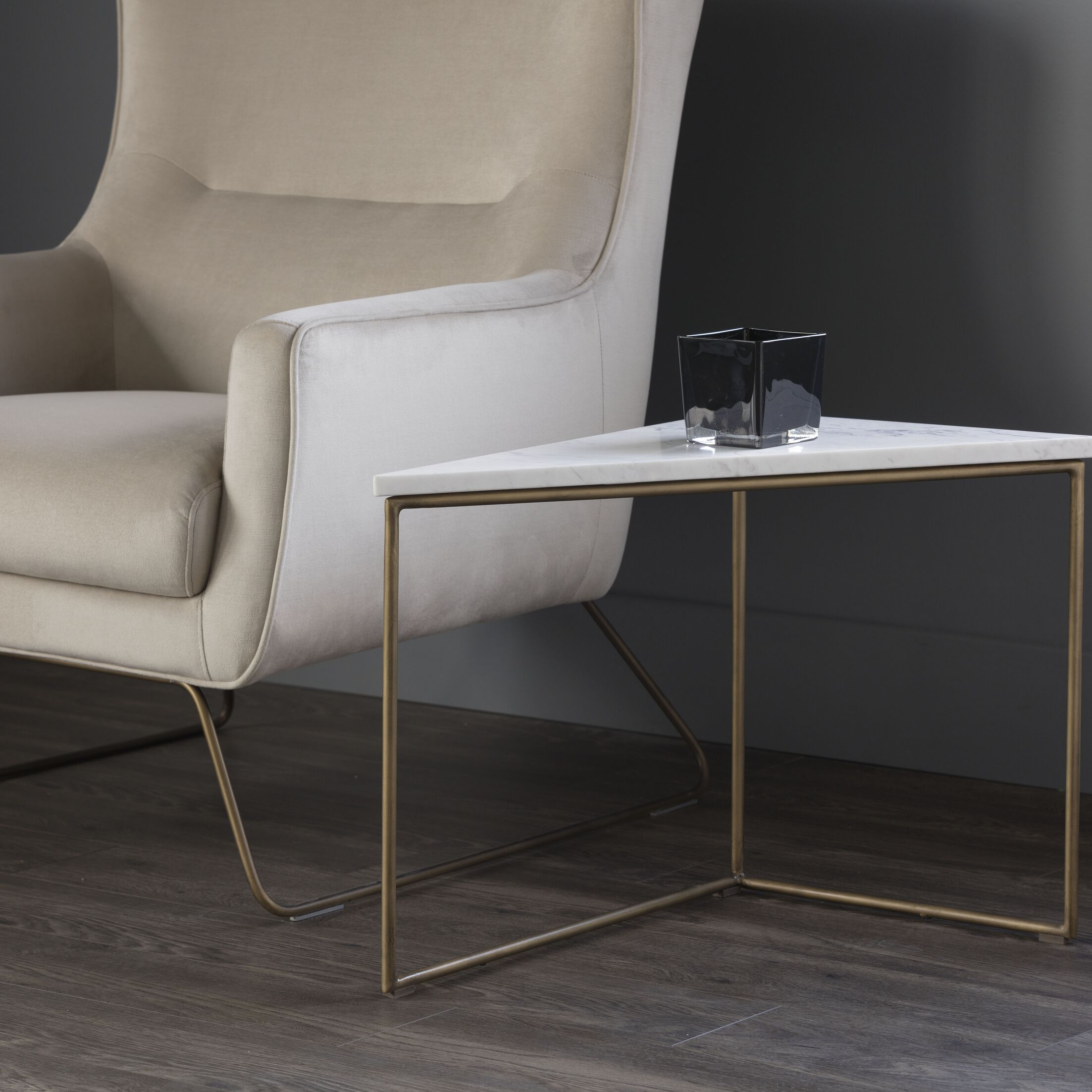 Solterra End Table Table Top Color: White