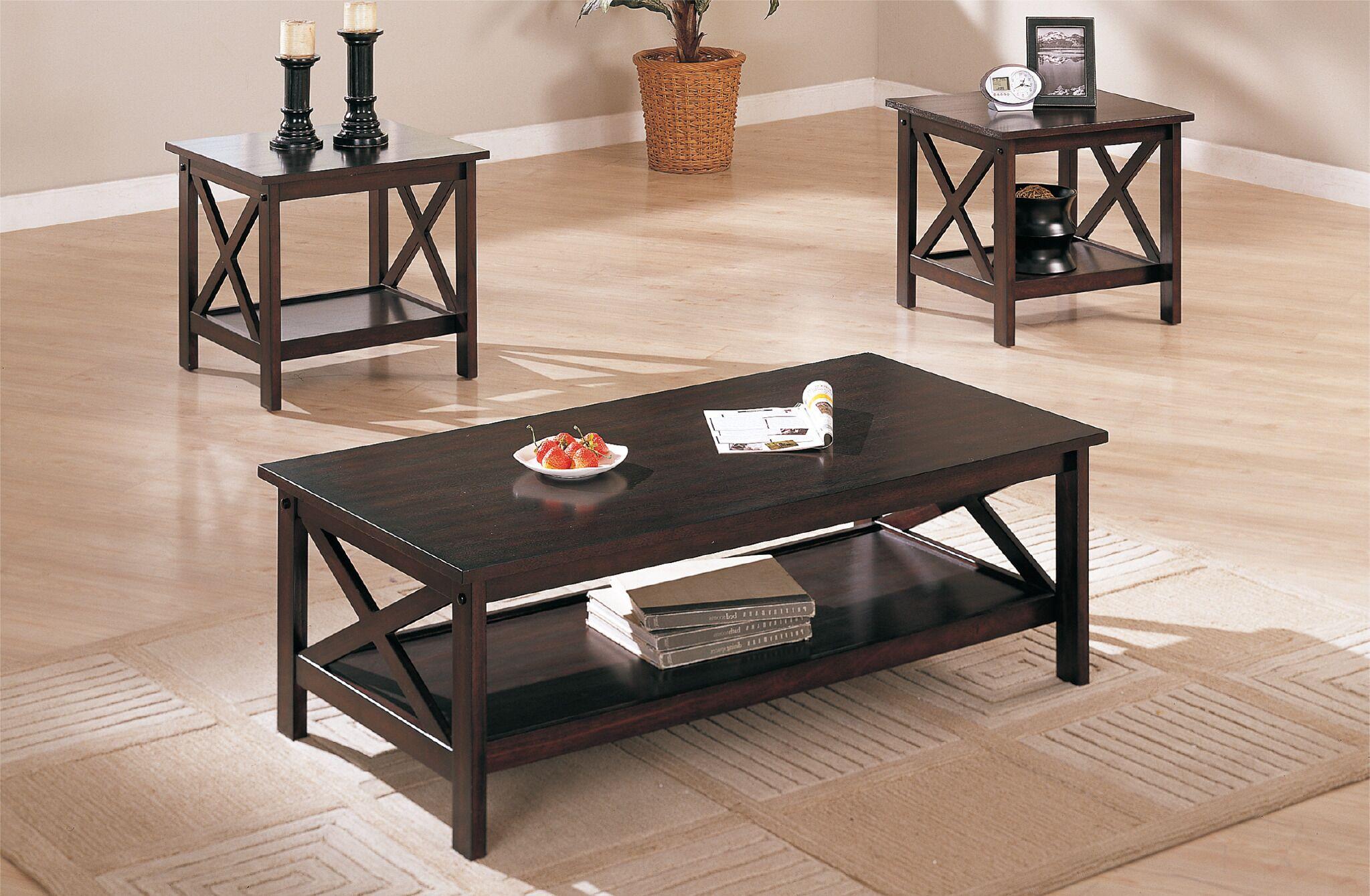 Ana 3 Piece Coffee Table Set