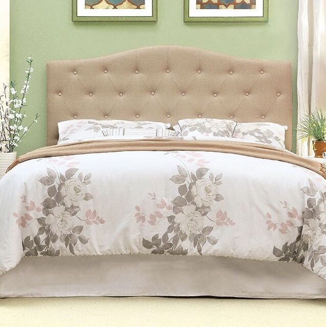 Mabel Compatibility Upholstered Panel Headboard Upholstery: Ivory, Size: Twin
