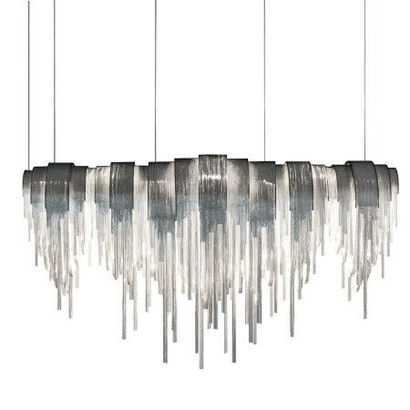 Ramsell Chain Link 12-Light Crystal Chandelier