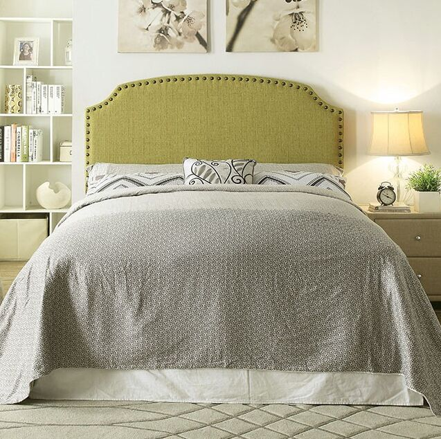 Annabel Upholstered Panel Headboard Size: Twin Size, Upholstery: Lemon Grass