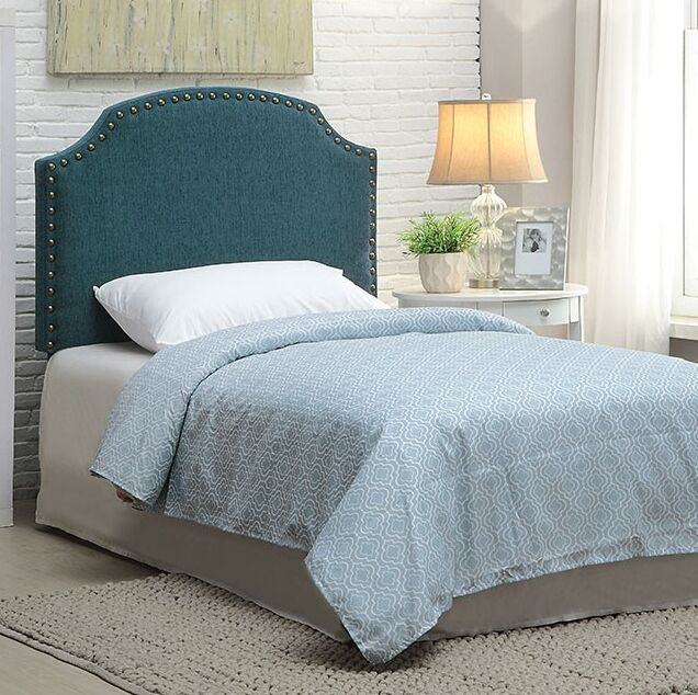 Annabel Upholstered Panel Headboard Size: King Size, Upholstery: Dark Teal