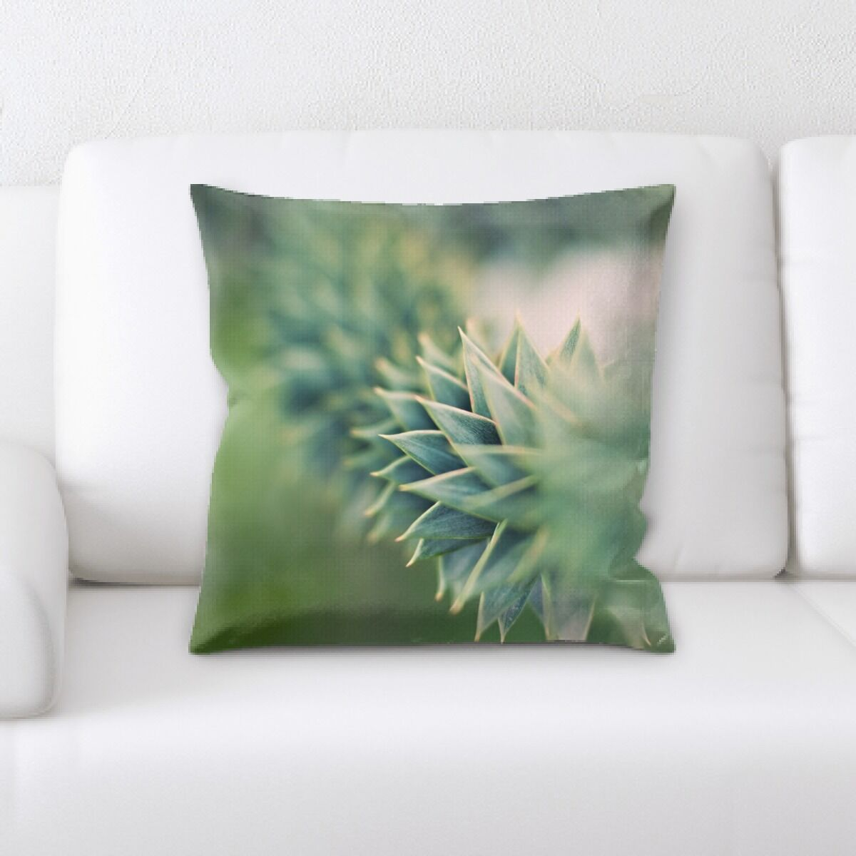 Blurred Out Throw Pillow