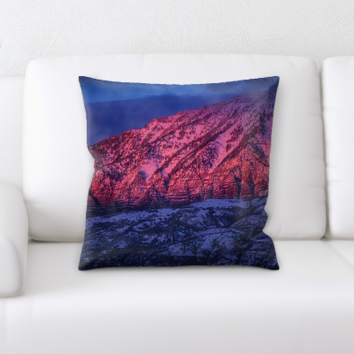 Sharp Colors Throw Pillow