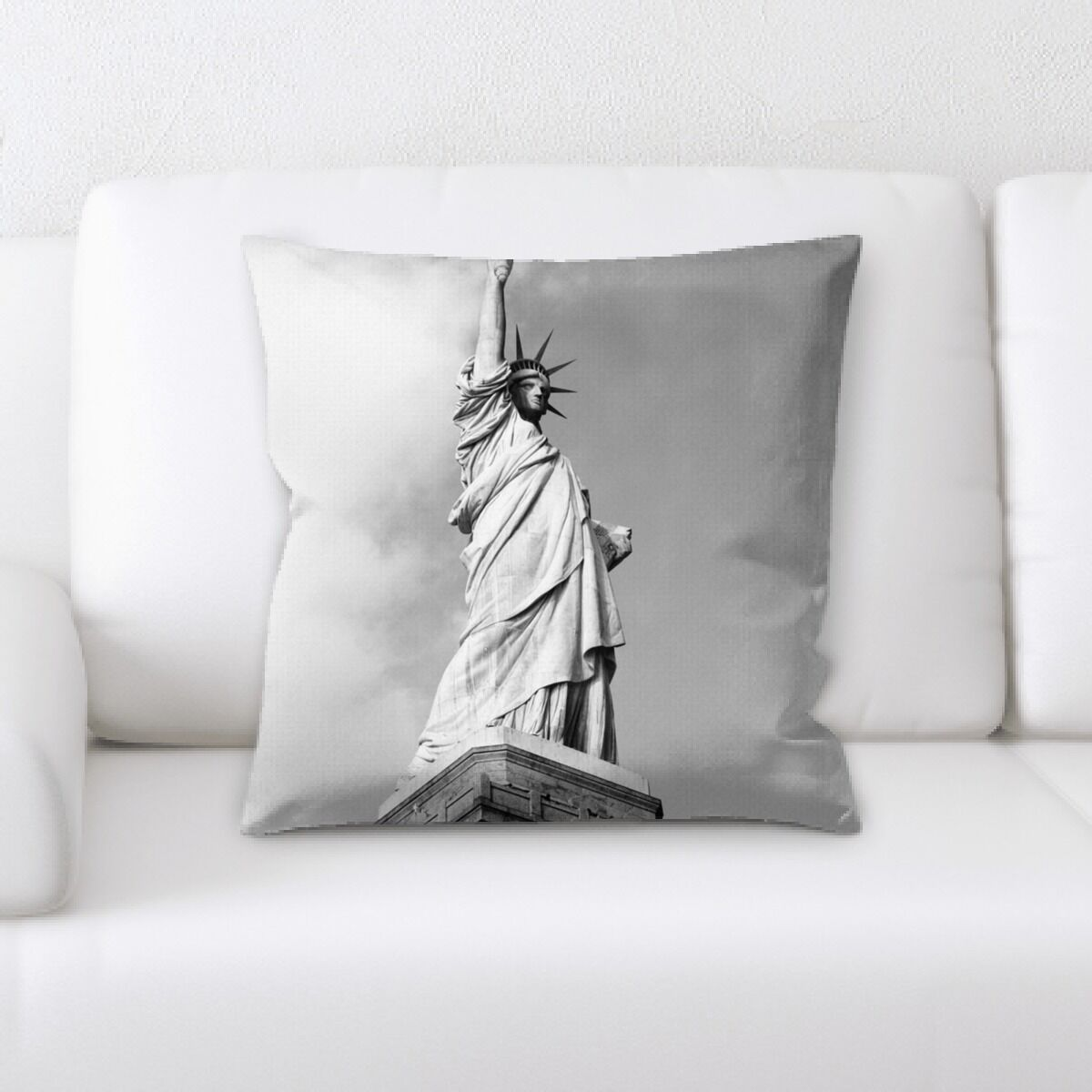 Statue Throw Pillow