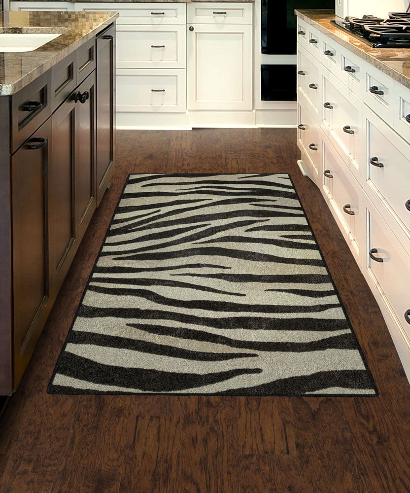Metzger Zebra Stripes Animal Print Black/Ivory Area Rug Rug Size: Rectangle 5' x 8'