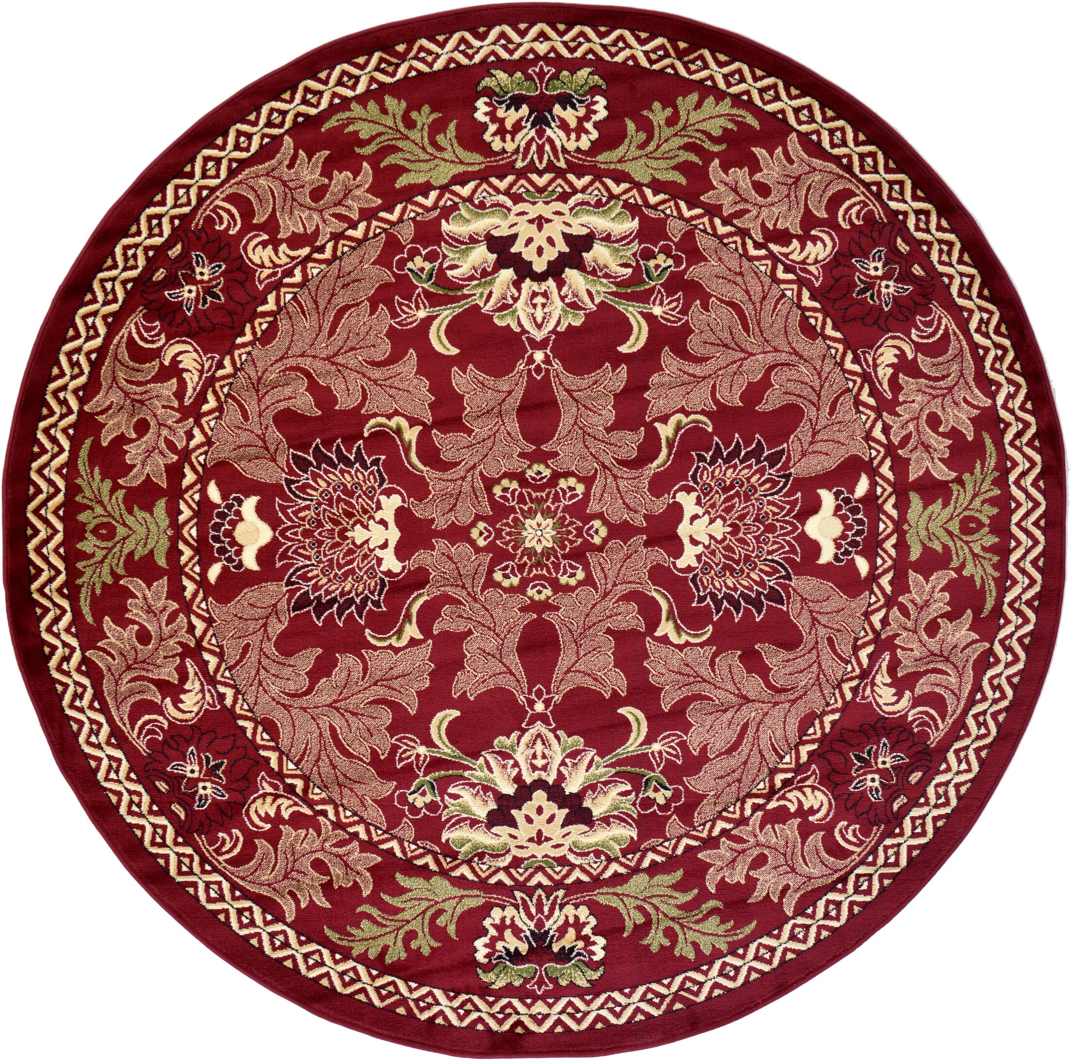 Wheatland Red Area Rug Rug Size: Round 8'
