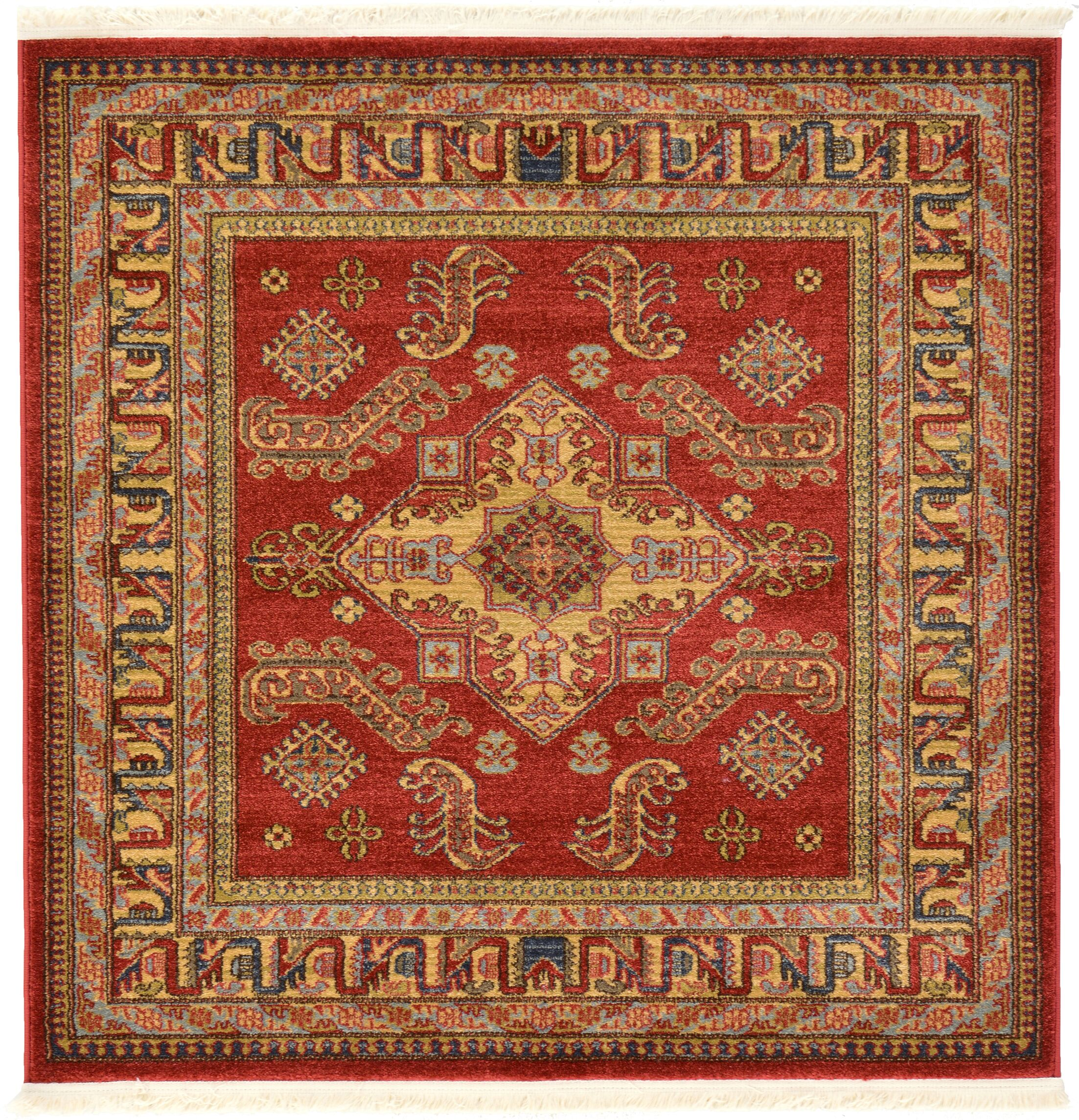 Valley Red Area Rug Rug Size: Square 4'1