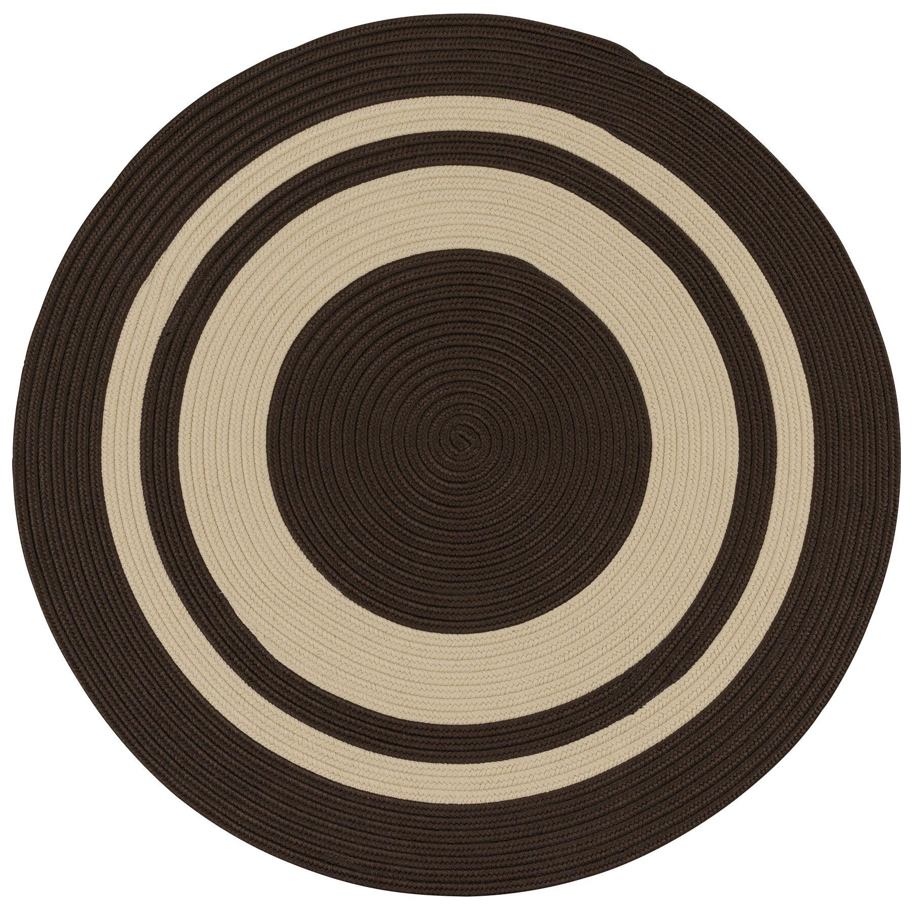 Don Hand-Braided Brown/Beige Indoor/Outdoor Area Rug Rug Size: Round 9'