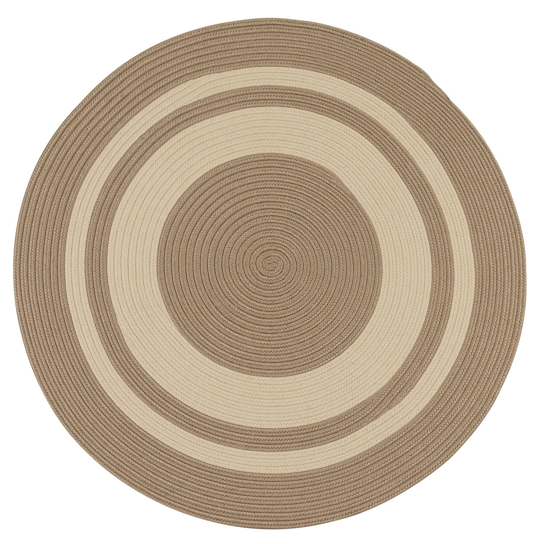 Don Hand-Braided Brown/Beige Indoor/Outdoor Area Rug Rug Size: Round 11'