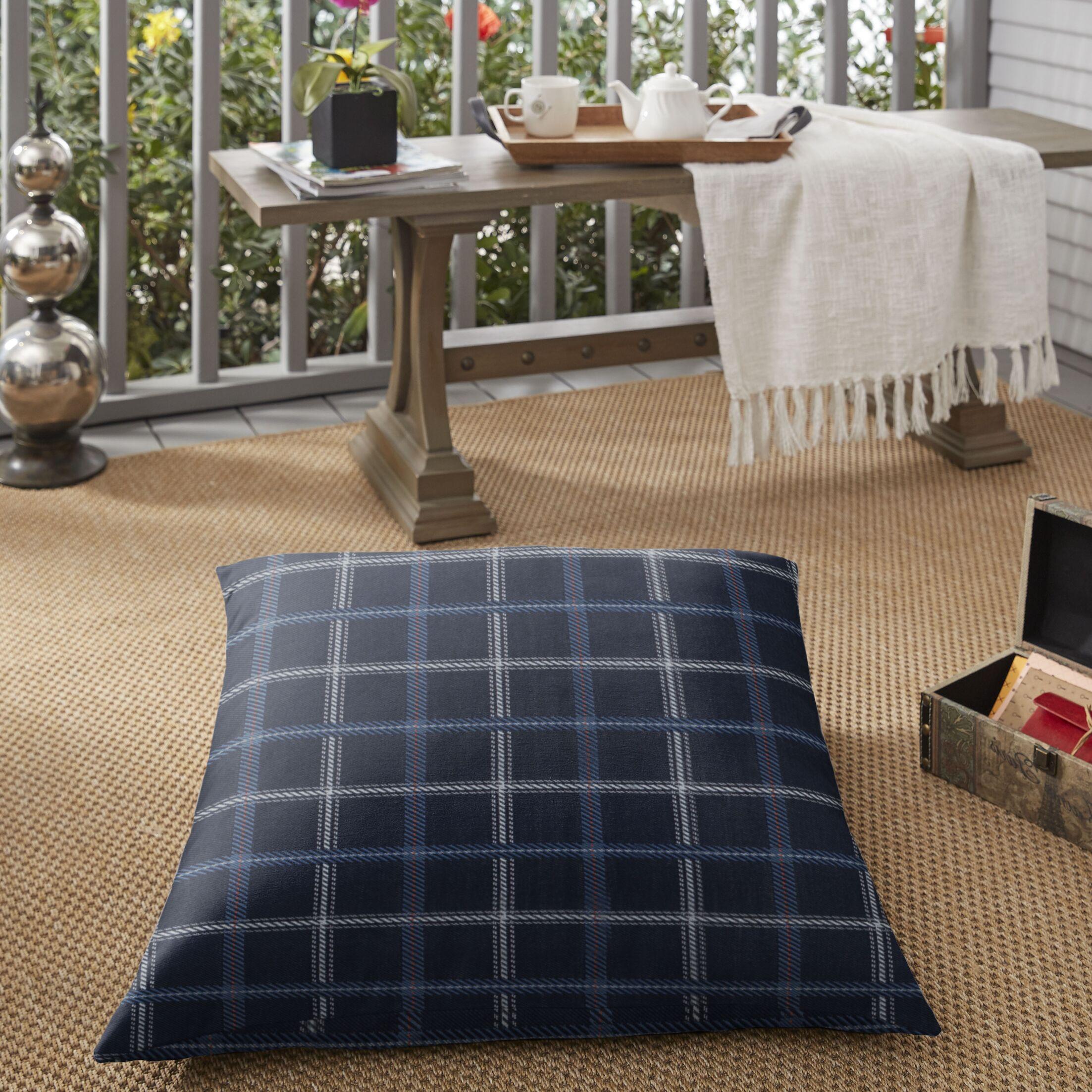 Kiki Indoor/Outdoor Floor Pillow Color: Blue