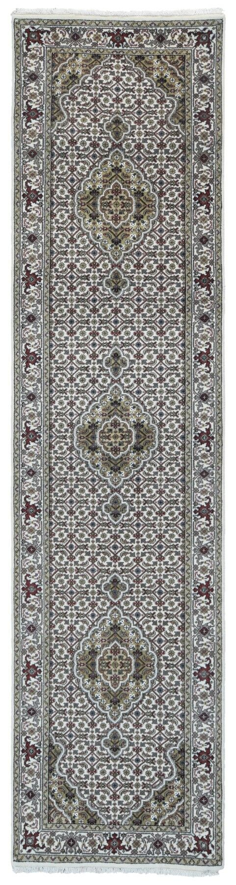 One-of-a-Kind Joanna Oriental Hand-Knotted Beige/Green Area Rug