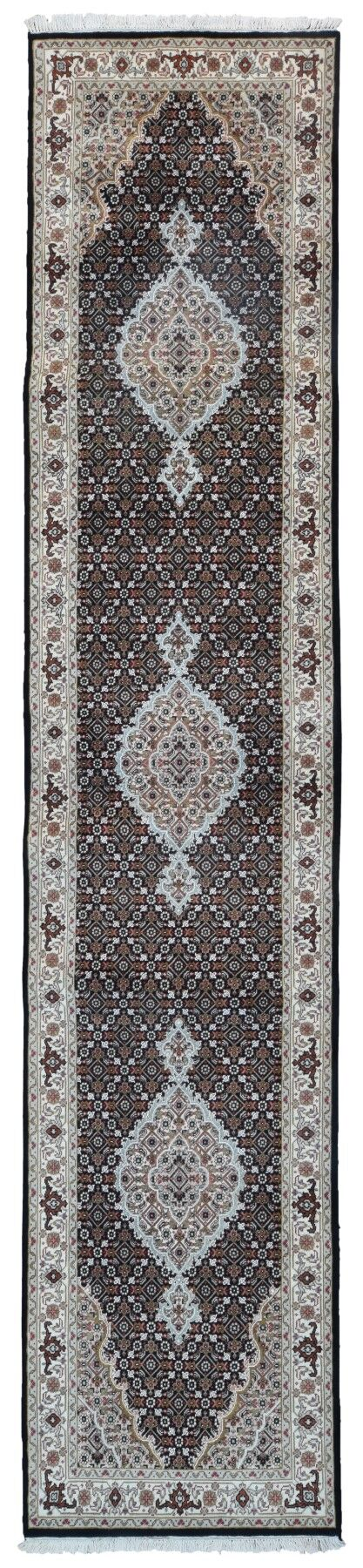 One-of-a-Kind Joanna Oriental Hand-Knotted Beige/Black Area Rug