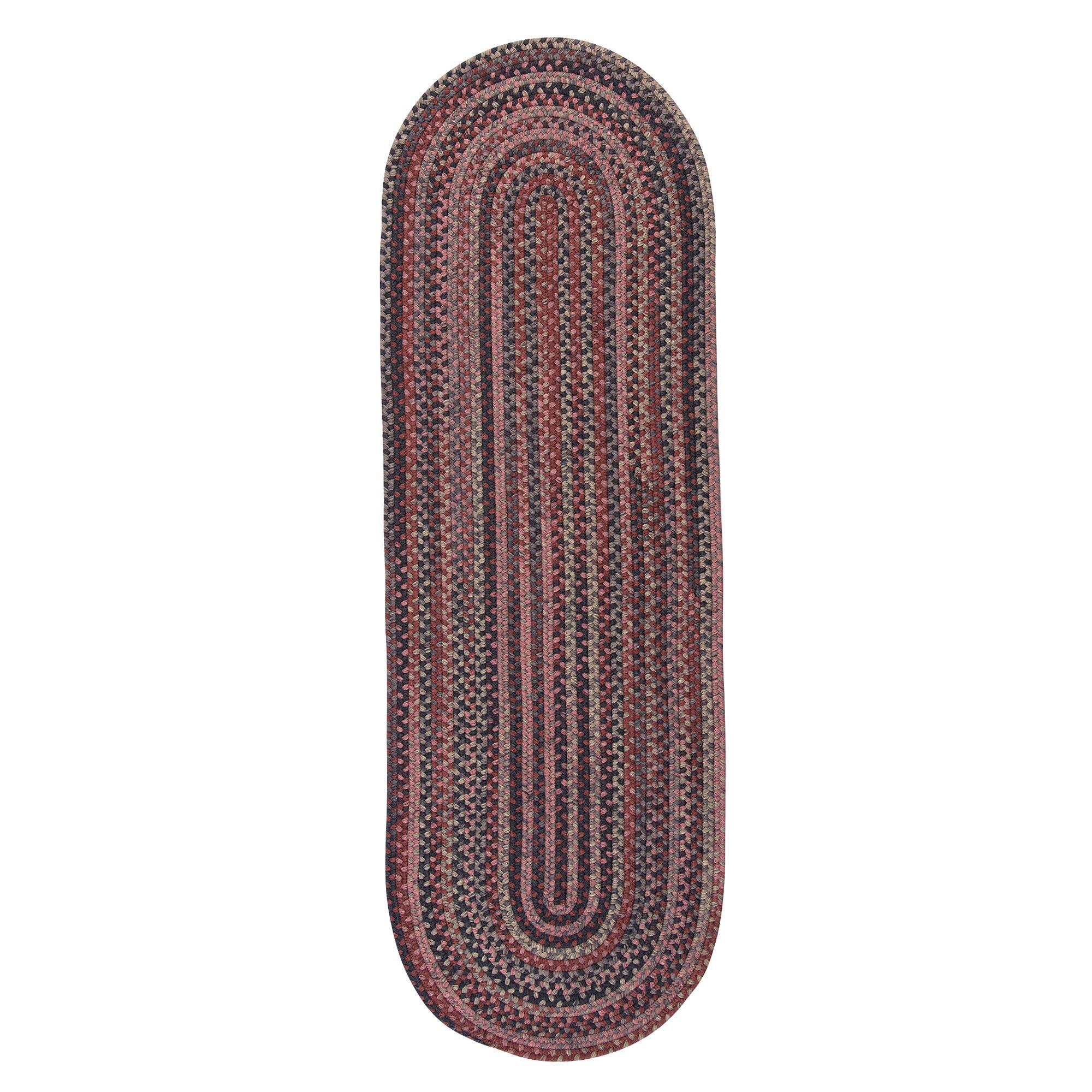 Nala Runner Hand-Braided Wool Red Area Rug Rug Size: Runner 2'6