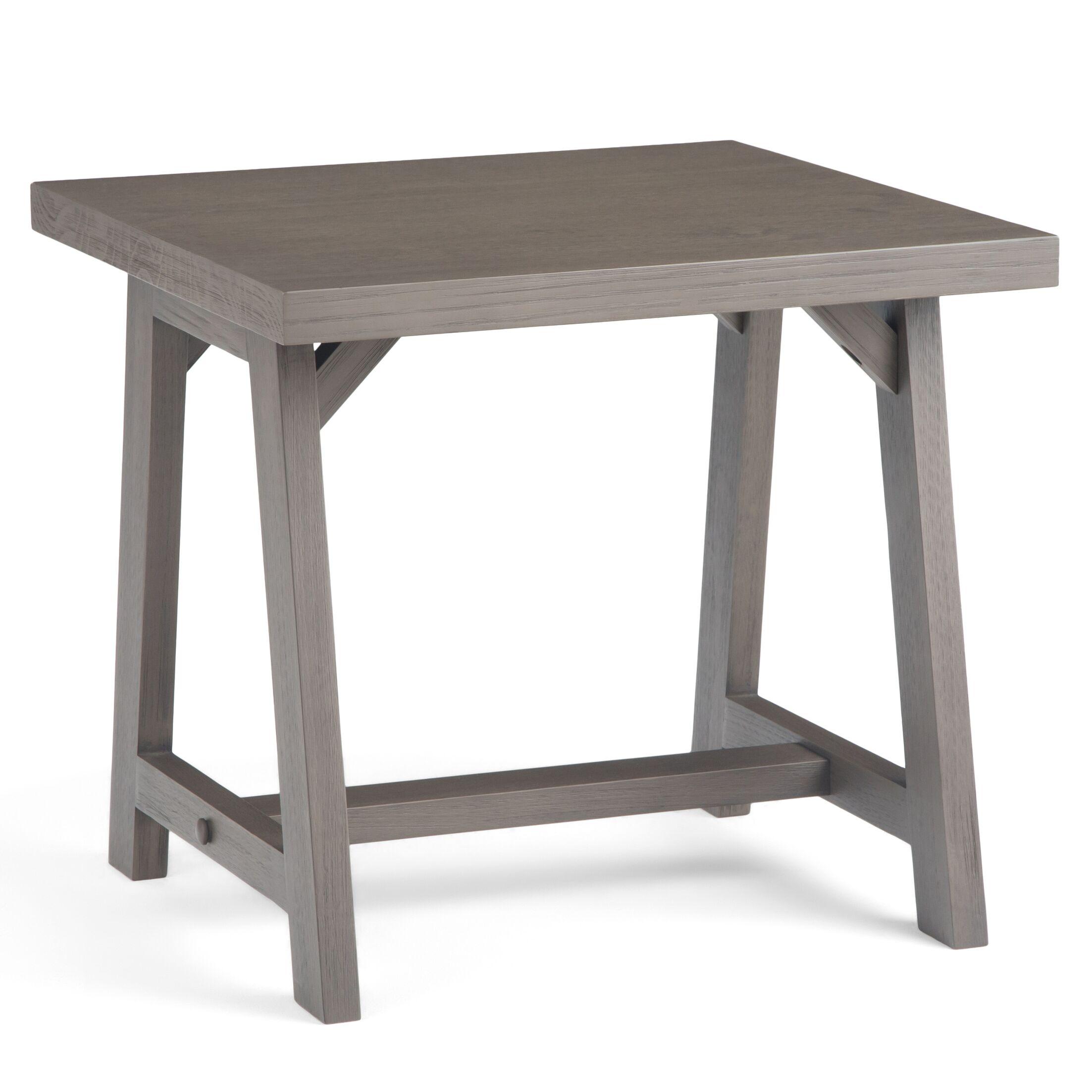 Sawhorse End Table Color: Farmhouse Gray